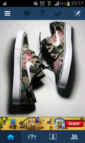 shoes nike floral trainers