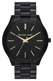 jewels,watch,michael kors,michael kors watch,black watch,black,micheal kors watch