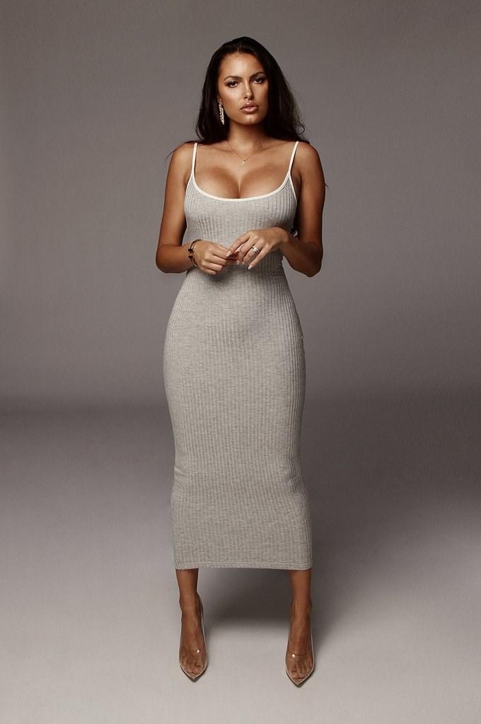 Grey Ryder Contrast Dress