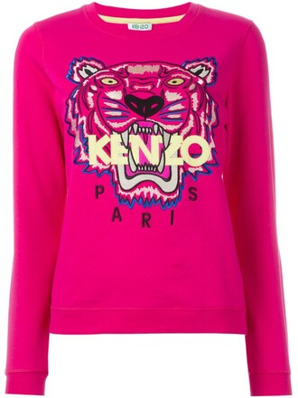 sweatshirt women tiger cotton purple pink sweater