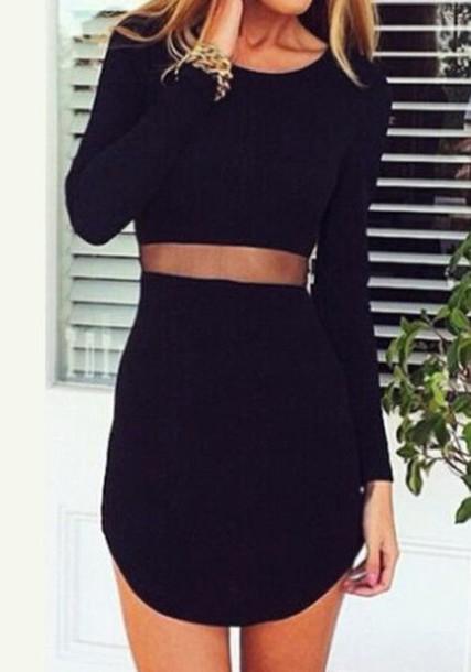dress black dress mesh dress skirt