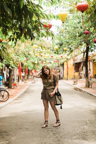 wish wish wish blogger top shorts bag shoes sunglasses