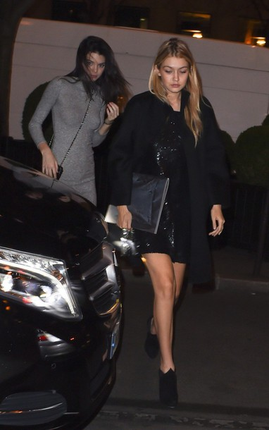 dress black dress gigi hadid