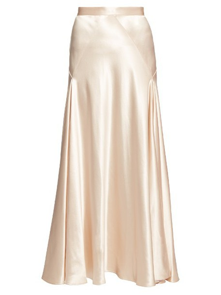HILLIER BARTLEY High-waisted satin skirt in pink