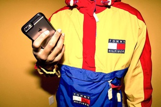 jacket tommy hilfiger jacket mens jacket windbreaker clothes tommy hilfiger coat yellow blue and red top tommy hillfiger yellow red blue tommy hillfigger yellow blue red white sweater yellow red blue dope sweet cool dope wishlist trendy fashion style