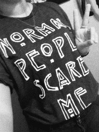 shirt nice black white love american horror story normal people scare me