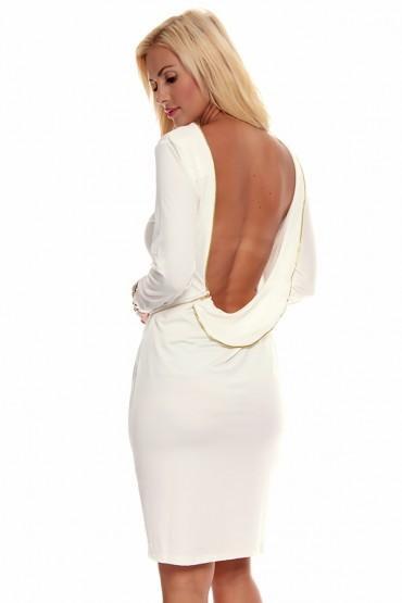 Backless zipped dress
