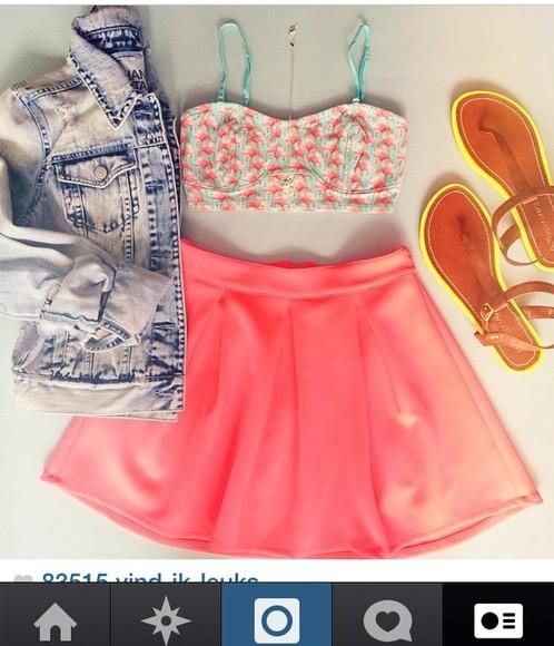 skirt neon skirt