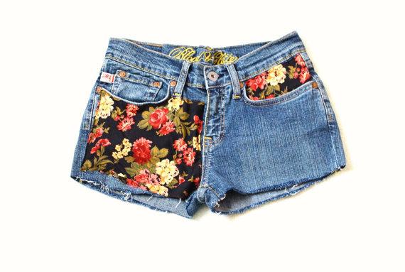 Floral Denim Shorts par Thelilacgirl sur Etsy
