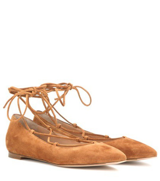 Gianvito Rossi suede brown shoes
