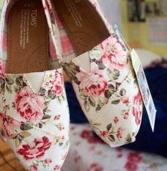 shoes toms floral