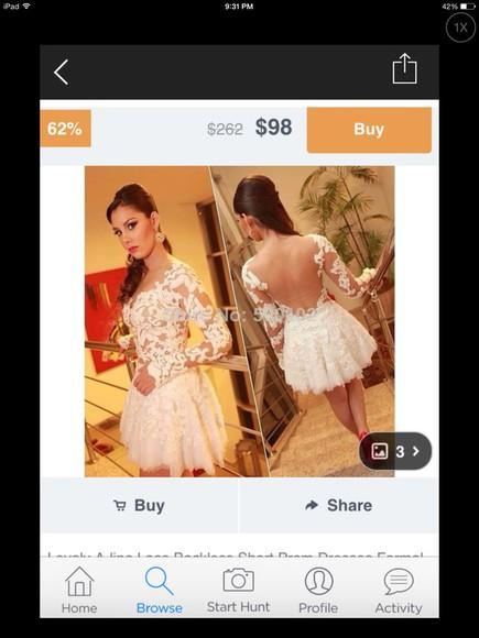 dress sheer lace dress long sleeves