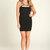Black Little Black Dress - Black Strappy Cut Out Dress   UsTrendy