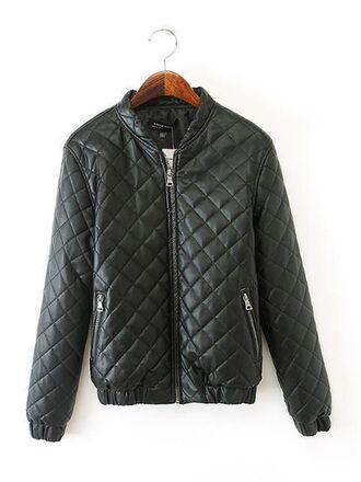 black coat jacket cotton