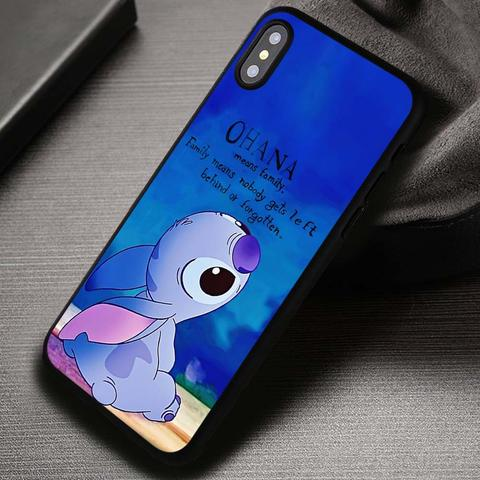 Ohana Lilo And Stitch Quotes Disney - iPhone X 8  7 6s SE Cases & Covers #iPhoneX