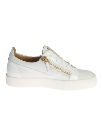 sneakers. metal sneakers leather white shoes