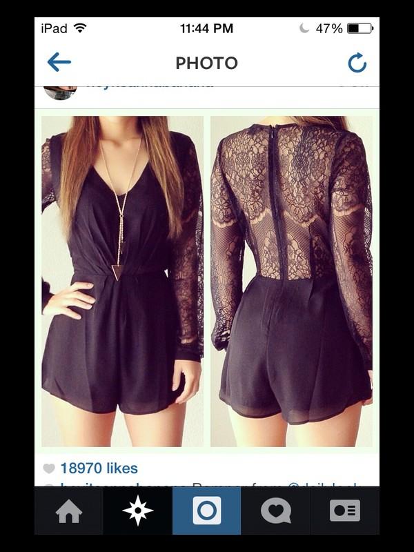 romper black shorts long sleeves