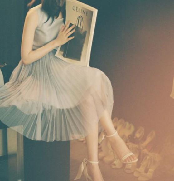 pleated dress pleat vintage