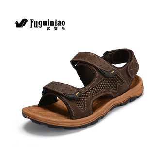 shoes fuguiniao mens shoes sandals slippers sports genuine leather shoes