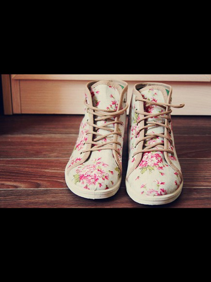 green shoes nicke floral awsome
