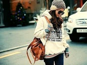 blouse,sweater,winter sweater,winter outfits,cute sweaters,bag,fancy