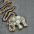 Crystal Elephant Gold Filled Use Swarovski Pandent Bib Statement Necklace X309H | eBay