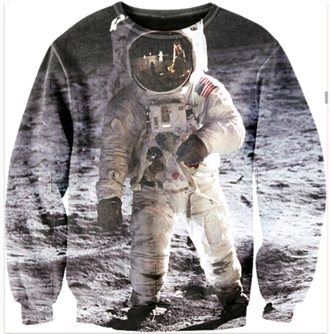 sweater crewneck sweater outer space space printed sweater science streetstyle