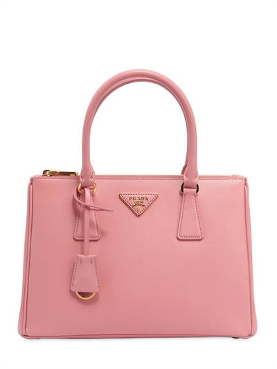 PRADA, Medium galleria saffiano leather bag, Pink, Luisaviaroma