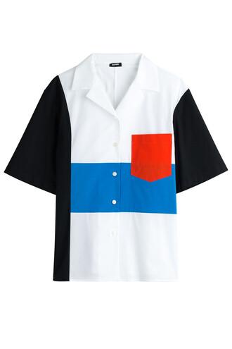 blouse cotton multicolor top