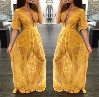 dress yellow lace maxi dress romper romper dress dress with shorts maxi romper romper maxi custard yellow dress gold dress skorts