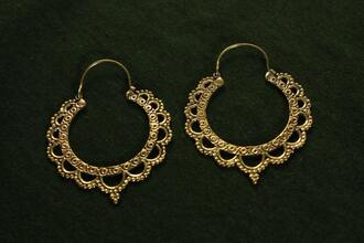 jewels gypsy hippie ethnic aztec gold tribal pattern earrings