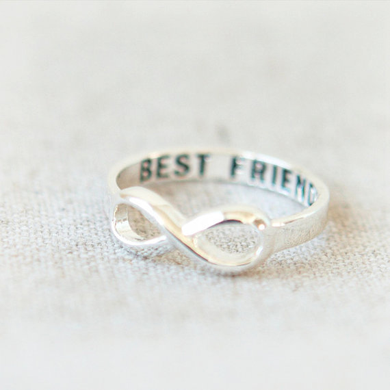 Best Friends Infinity Ring in silver
