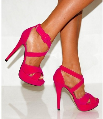 shoes pink straps strappy heels high heels open toes strappy heels