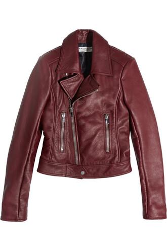 jacket biker jacket leather