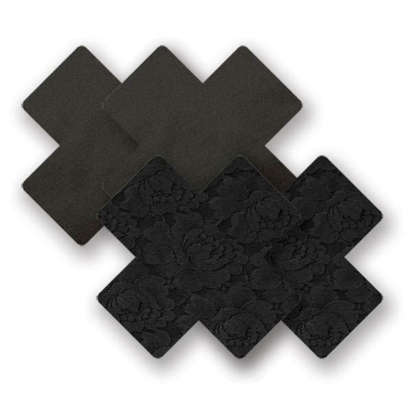 Nippies nipple cover pasties concealers basic adhesive waterproof black cross