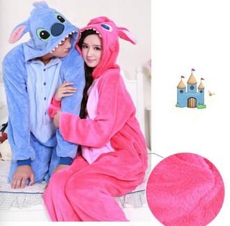 pajamas lilo and stitch onesie blue onesie pink onesie