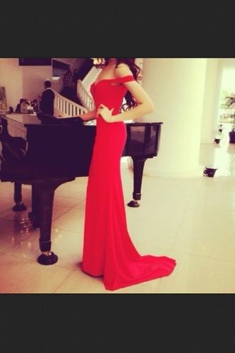 dress prom dress long prom dress red dress red strapless dress prom tumblr silk dress maxi dress off the shoulder off the shoulder dress formal pretty long elegant