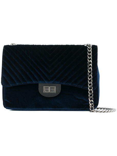 Marc Ellis women quilted bag quilted bag blue velvet