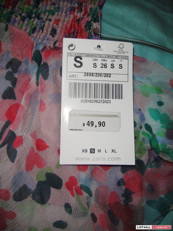 Zara: Pink Ruffled Floral Skirt :: alligatortears :: List4All