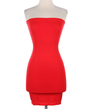 Lethalbeauty ? strapless tube bodycon dress