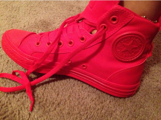shoes hot pink converse converse high tops converse chuck taylor converse all star sneakers sneakers high high top sneakers high tops