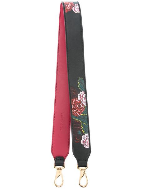 Demanumea women bag floral leather print black