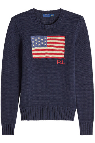 pullover cotton blue sweater