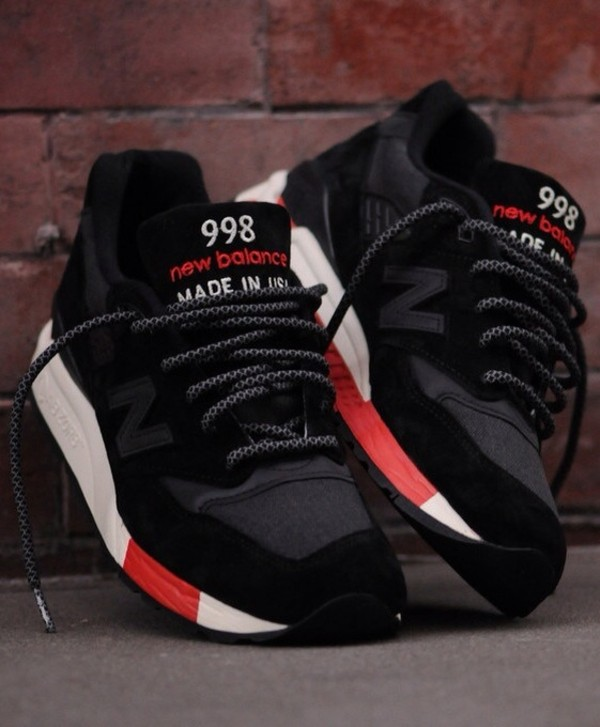 shoes new balance 998 red black