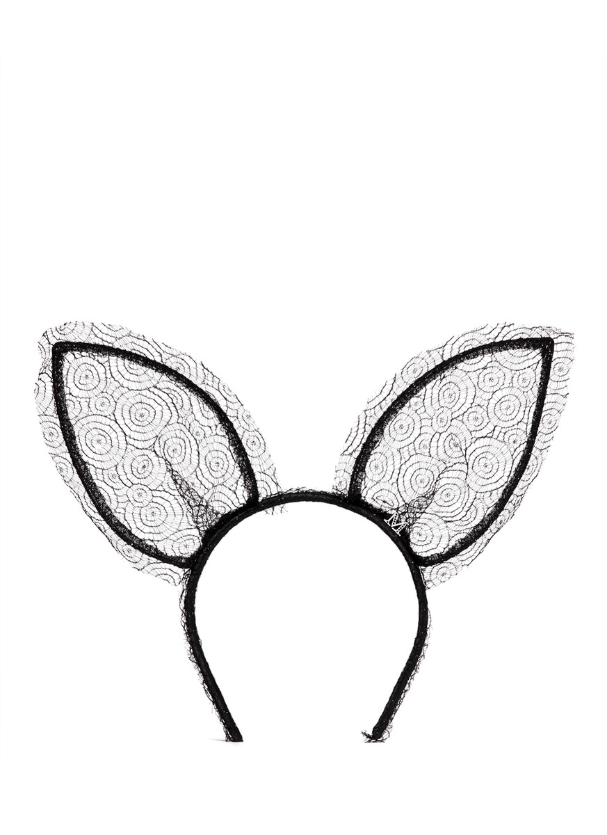 'heidi' lace rabbit ear headband