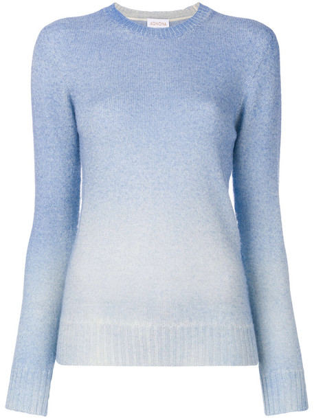 Agnona top long women blue knit