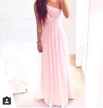 dress baby pink dress light pink light pink dress prom dress long prom dress