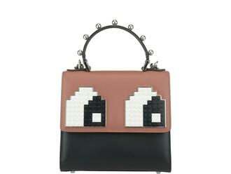 mini eyes backpack white black pink bag