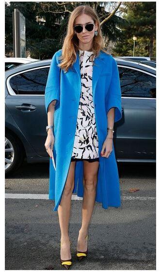 coat chiara ferragni dress pumps fashion