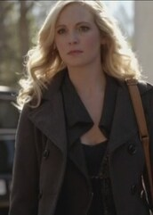 coat,the vampire diaries,pea coat,candice accola,caroline forbes,hooded,grey